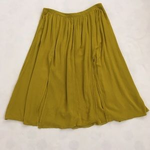 Topshop flowy lime green skirt
